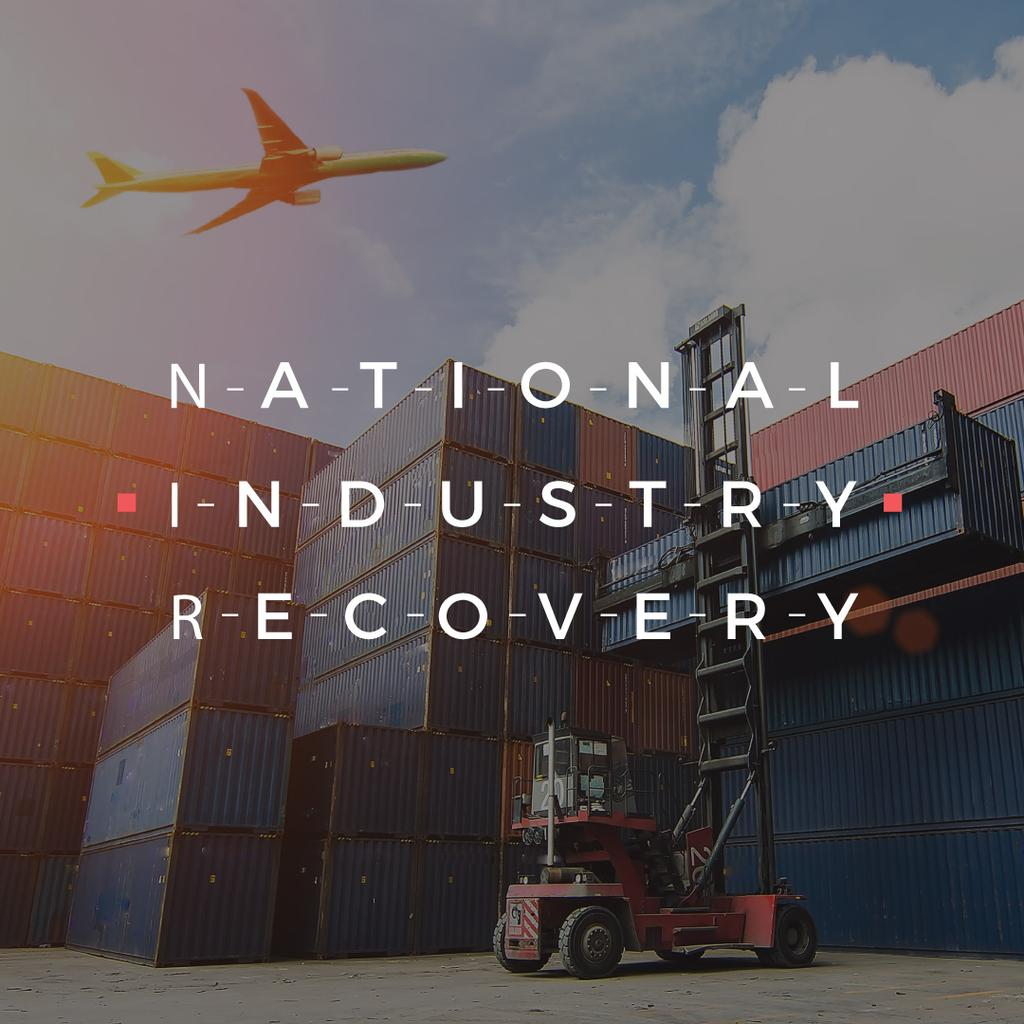 National industry recovery poster — Создать дизайн