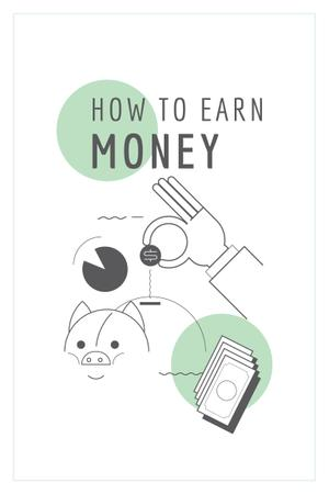 Plantilla de diseño de How to earn money Ad Pinterest