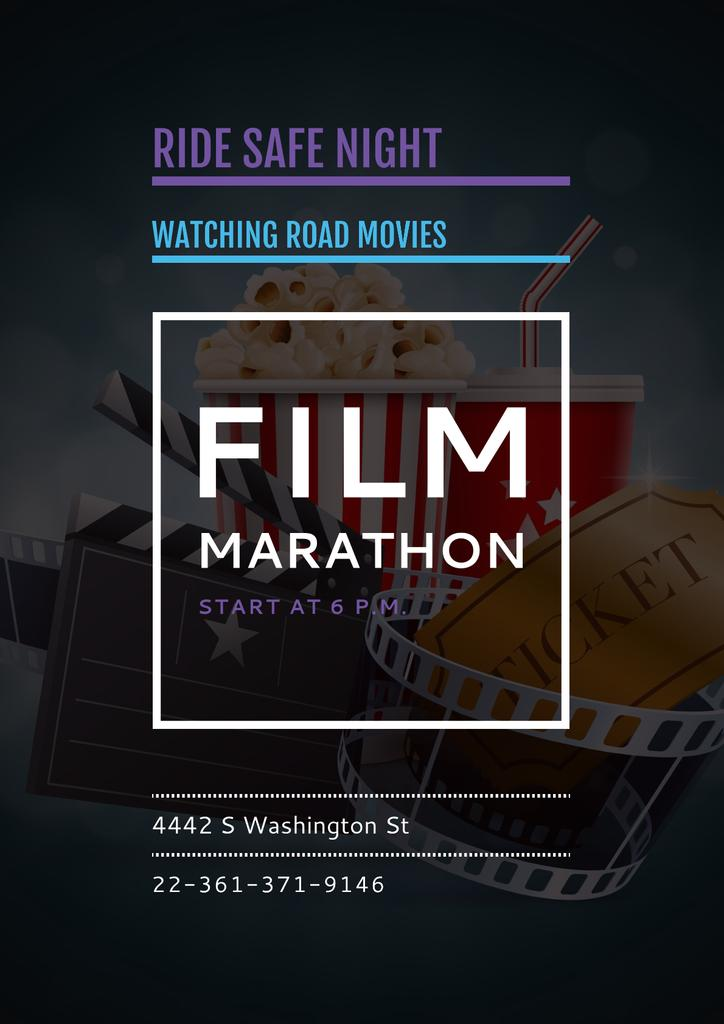 Film marathon night with Cinema Attributes — Crear un diseño