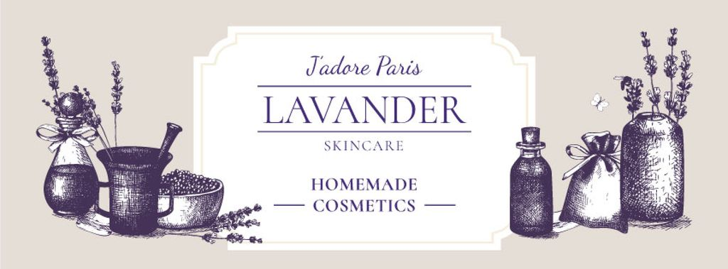 Homemade Cosmetics Ad with Purple Lavender — Crear un diseño