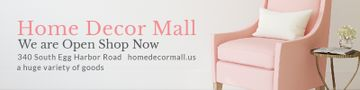 Home Decor Mall Ad with Pink Armchair