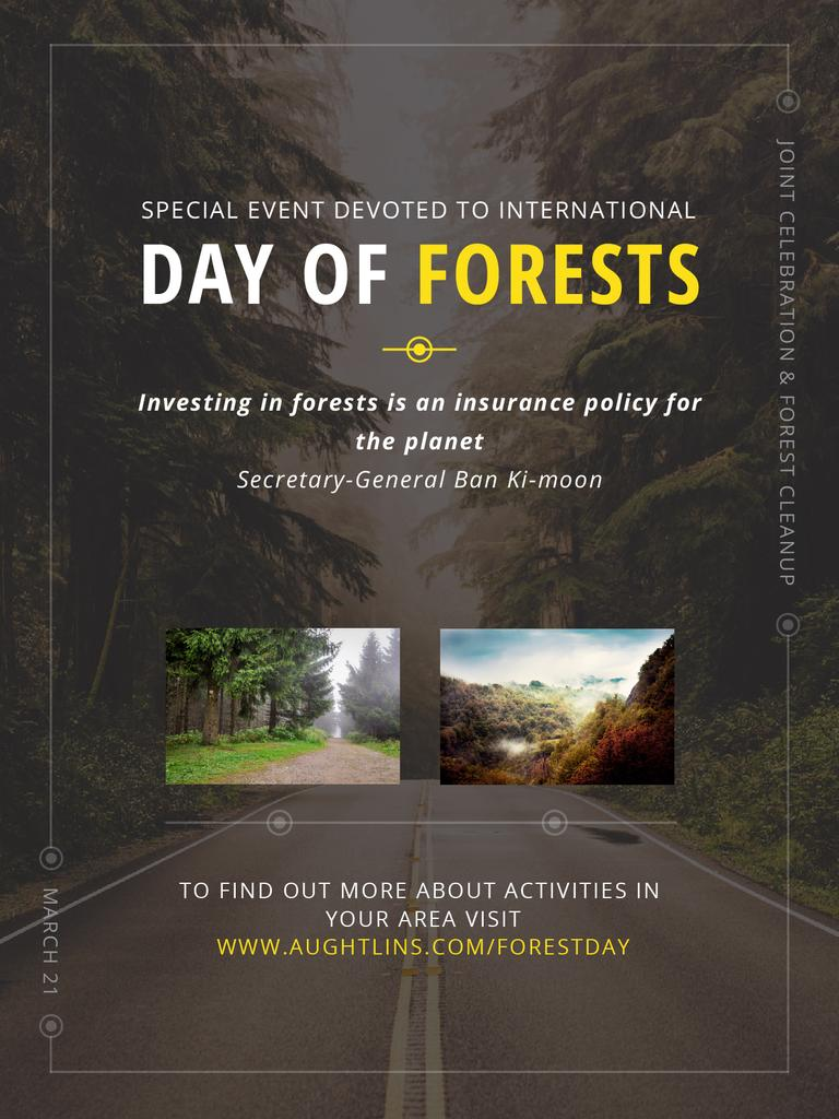 International Day of Forests Event Forest Road View — Создать дизайн