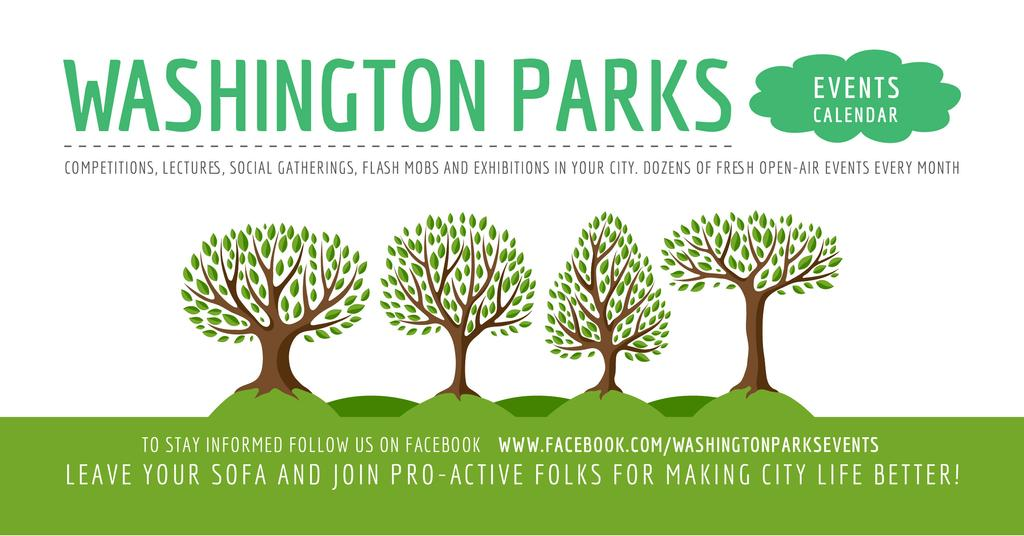 Events in Washington parks — Maak een ontwerp