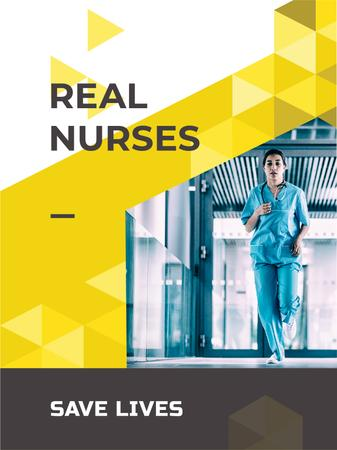 Professional Nurse in clinic Poster US Modelo de Design