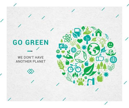 Plantilla de diseño de Environment protection green icons Facebook