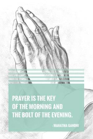 Plantilla de diseño de Religion citation about prayer Pinterest