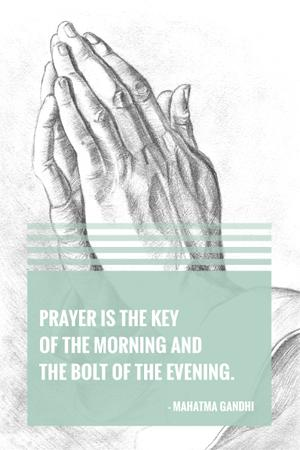 Ontwerpsjabloon van Pinterest van Religion citation about prayer