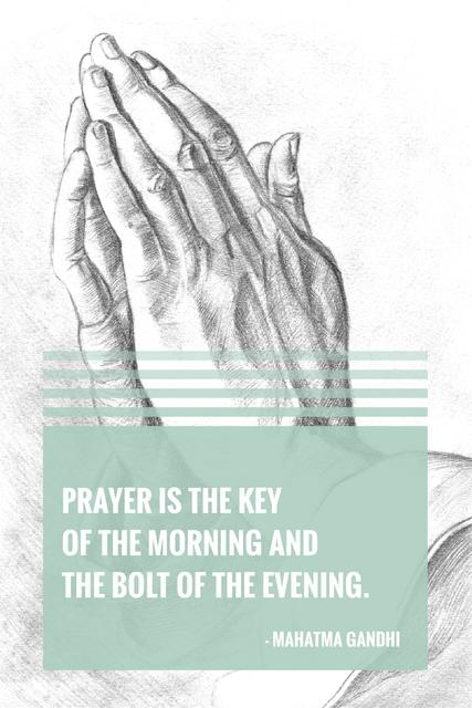 Ontwerpsjabloon van Pinterest van Religion citation about prayer