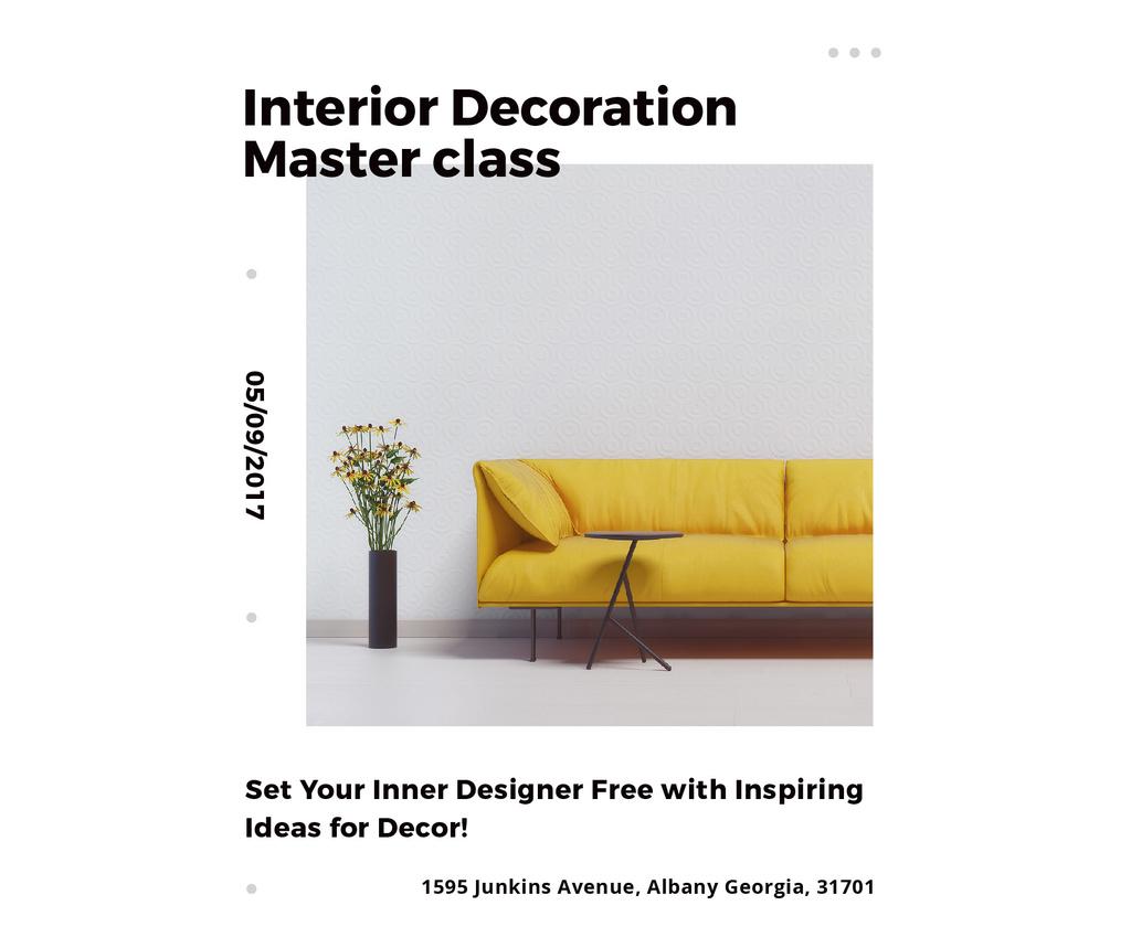 Interior decoration masterclass with Sofa in yellow — Crear un diseño
