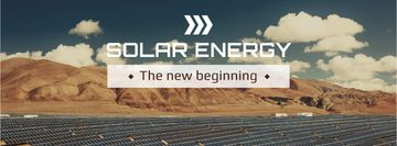 Green Energy Solar Panels in Desert | Facebook Cover Template