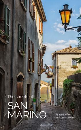 Template di design San Marino Old City Street Book Cover