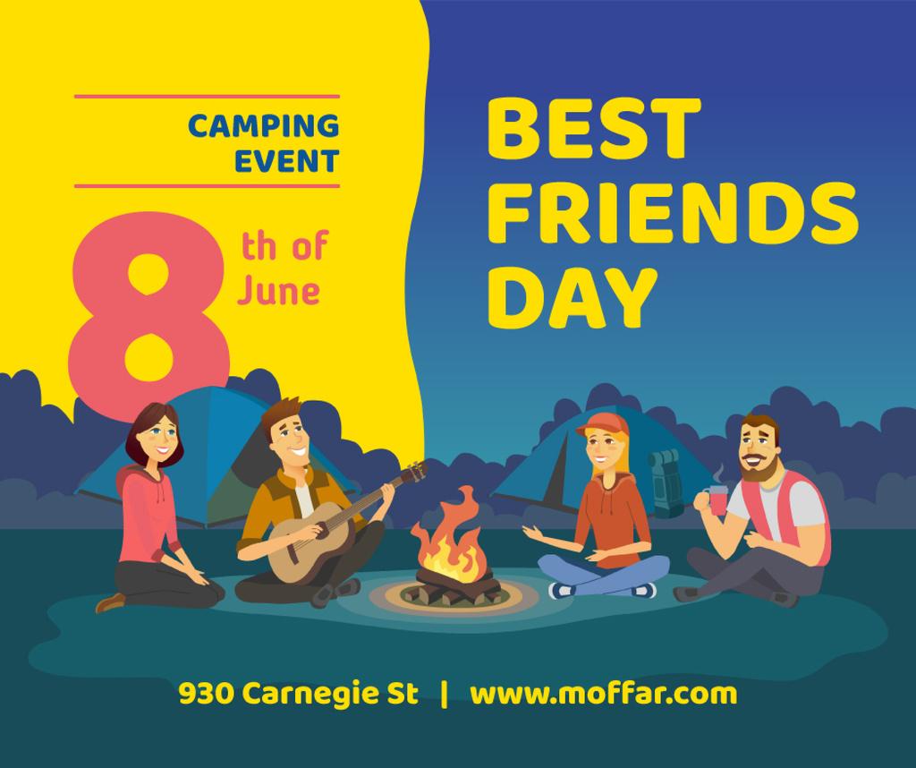 Modèle de visuel Best Friends Days People at picnic with guitar - Facebook