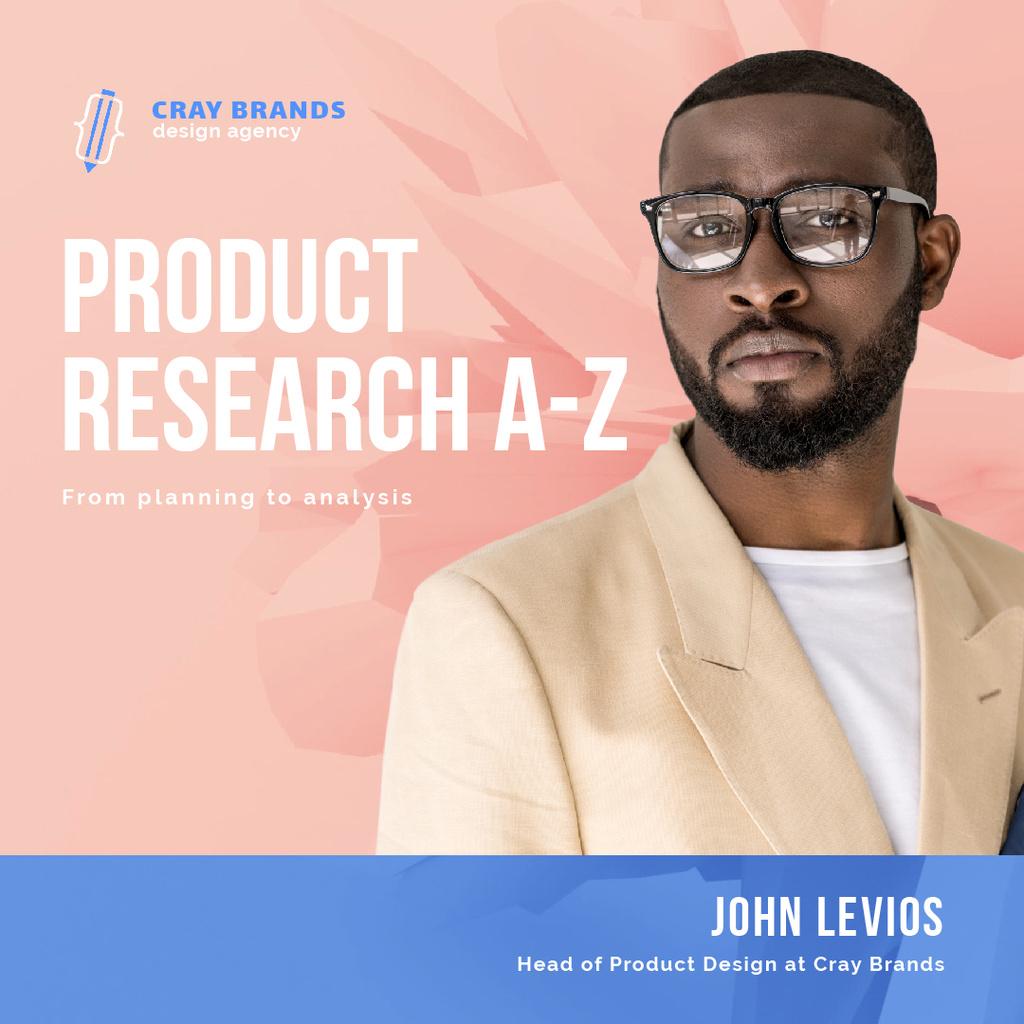 Product Design Company Ad with Confident Businessman — Создать дизайн