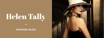 Fashion Blog Ad with Stylish Woman in Hat