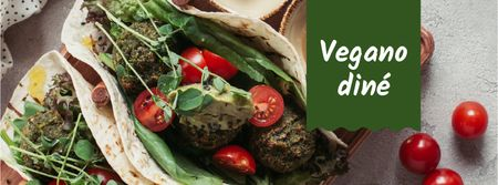 Template di design Restaurant menu offer with vegan dish Facebook cover