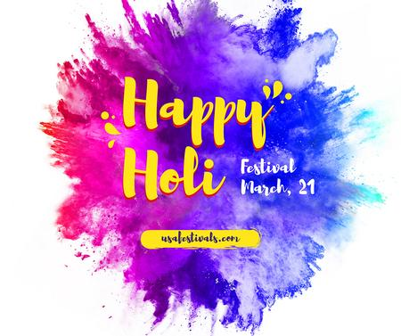 Indian Holi festival celebration Facebook Design Template