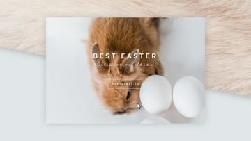 Cute bunny with Easter eggs