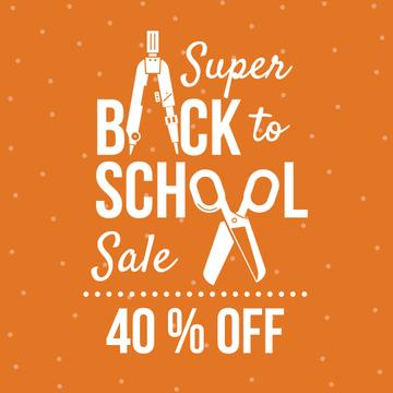 super sale poster, back to school concept