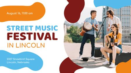 Plantilla de diseño de Young Musicians at Street Music Festival FB event cover