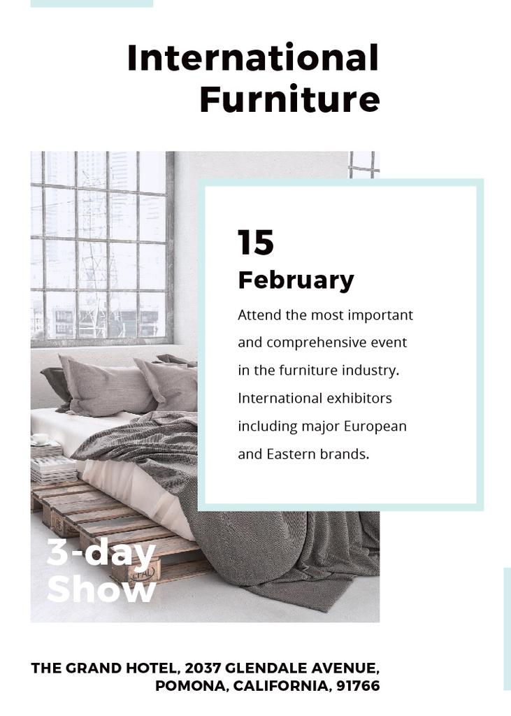 Furniture Show Bedroom in Grey Color — Créer un visuel