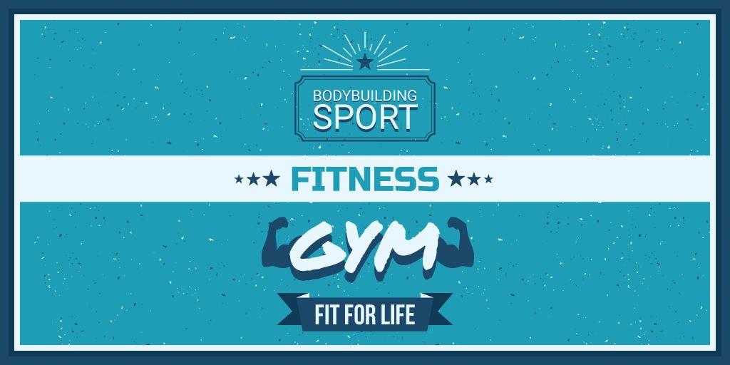 Fitness gym advertisement — ein Design erstellen