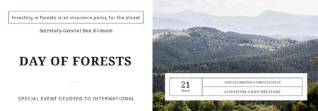 International Day of Forests Event Scenic Mountains Tumblr Tasarım Şablonu