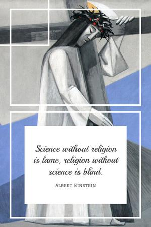 Citation about science and religion Pinterest Design Template