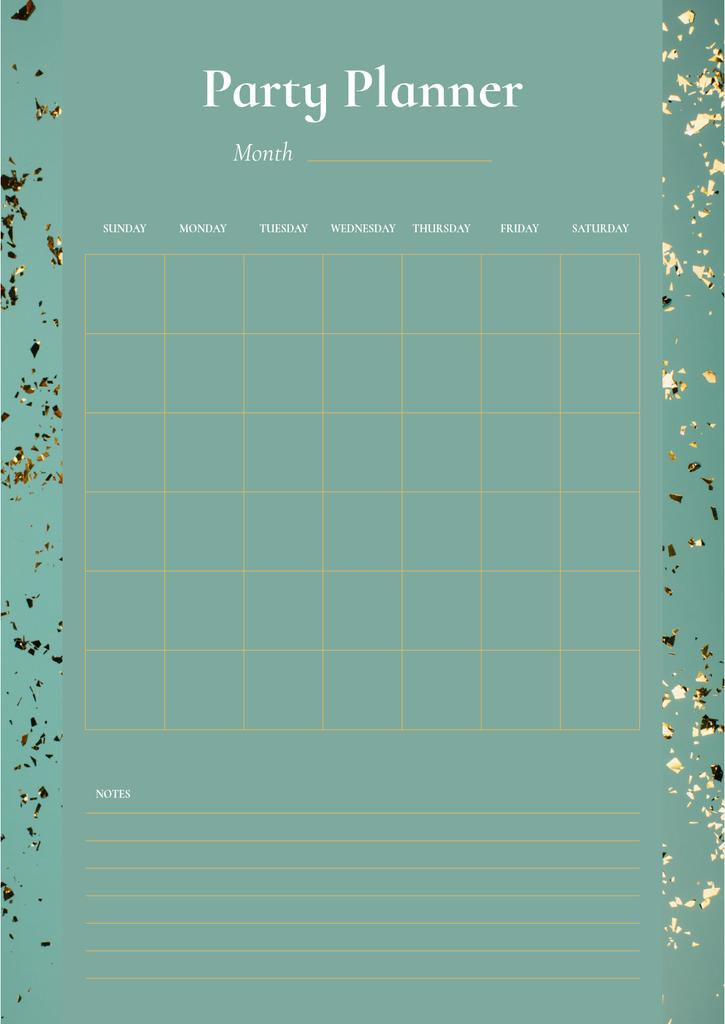 Party Planner on Golden Bright Confetti — Create a Design
