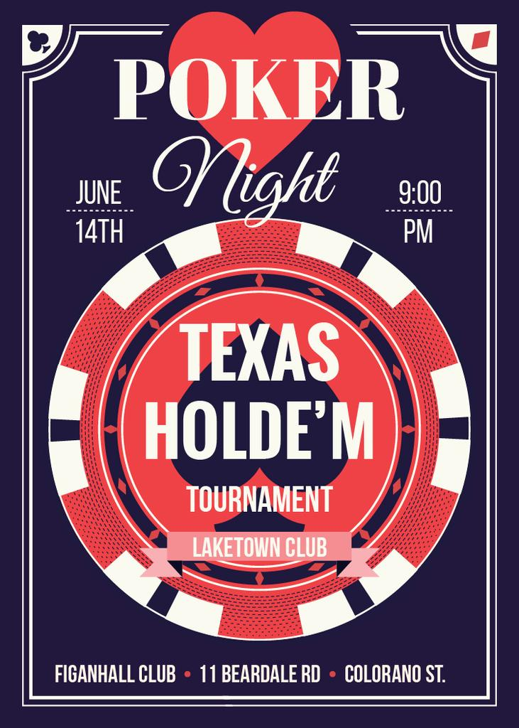 Poker night tournament night — Modelo de projeto