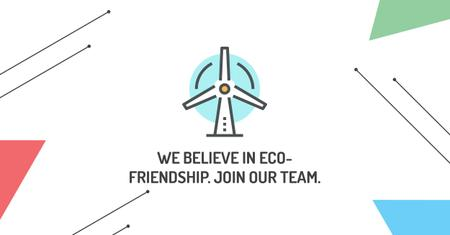 Szablon projektu Eco-friendship concept Facebook AD