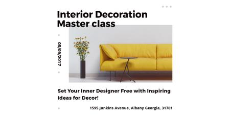 Interior decoration masterclass Twitter – шаблон для дизайну
