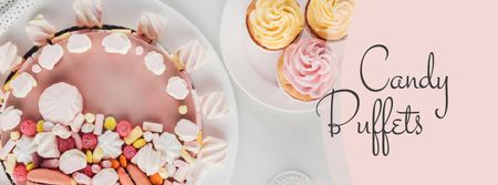 Bakery Promotion Sweet Pink Cake Facebook cover Modelo de Design