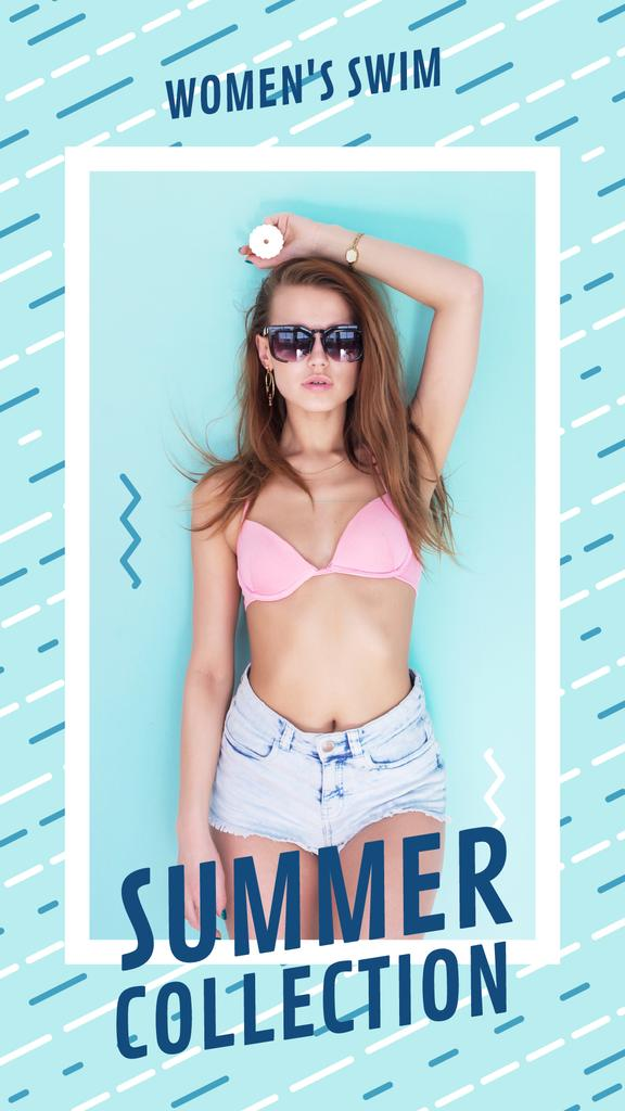 Summer Offer Young Girl in Bikini — ein Design erstellen