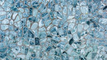 Blue decorative stone Wall
