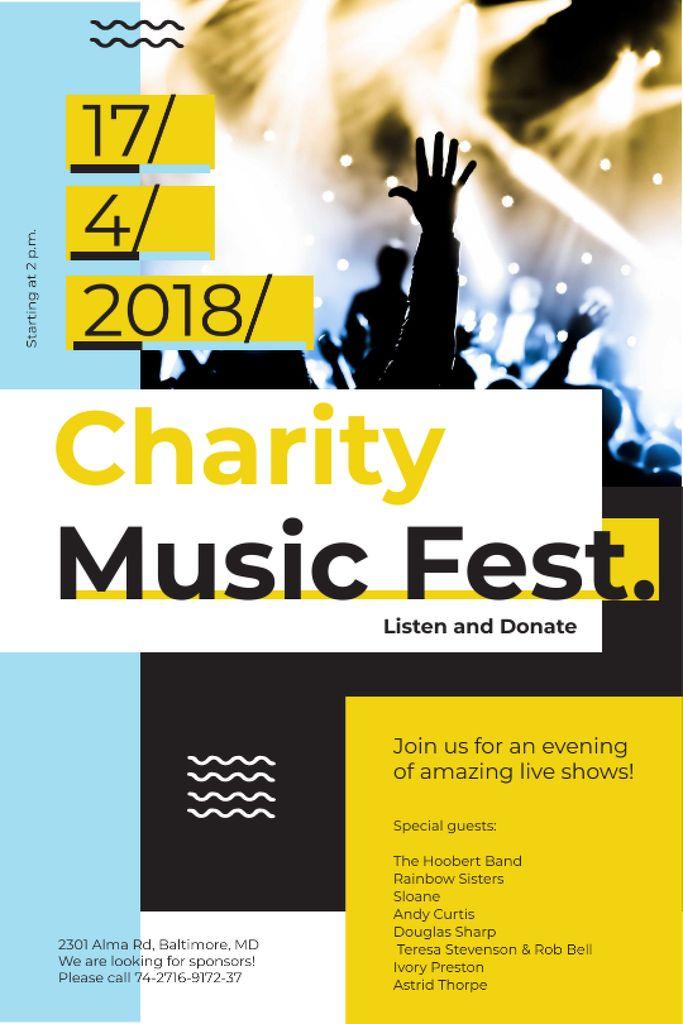 Music Fest Invitation Crowd at Concert — Crea un design