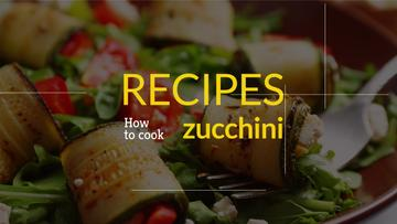 recipe book for preparing zucchini banner