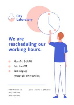 Test Laboratory Working Hours Rescheduling during quarantine