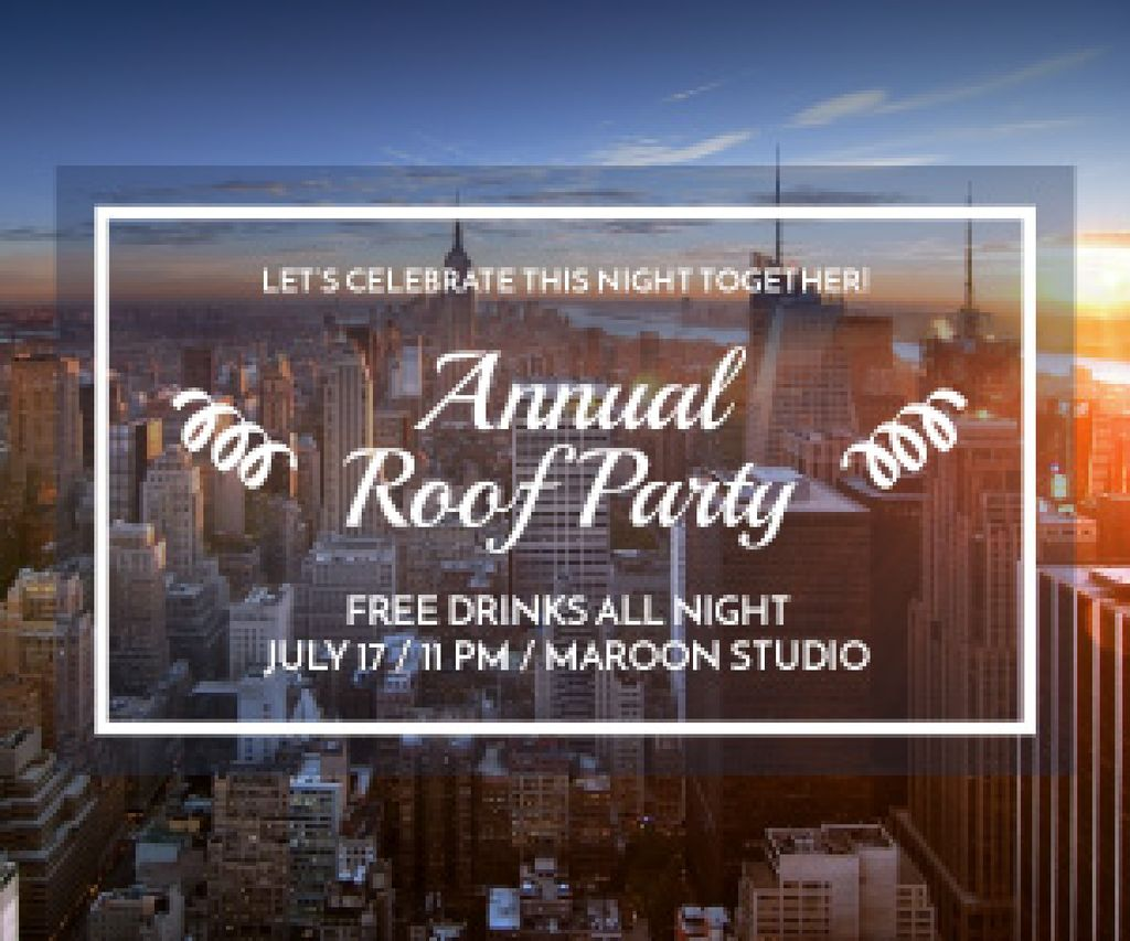 Roof party invitation — Create a Design