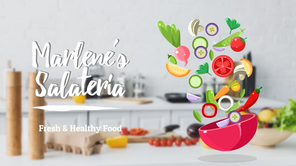 Cooking healthy vegetable salad — Créer un visuel