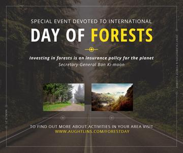 International Day of Forests Event Forest Road View | Facebook Post Template
