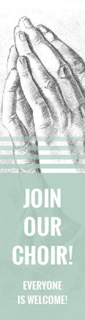 Invitation to a religious choir — Créer un visuel