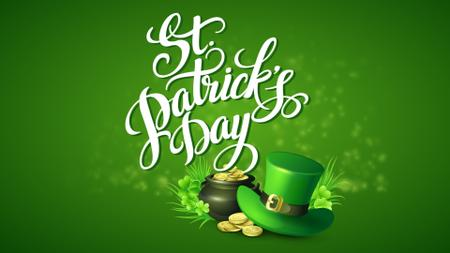 Modèle de visuel Saint Patrick's Day Hat and Coins in Green - Full HD video