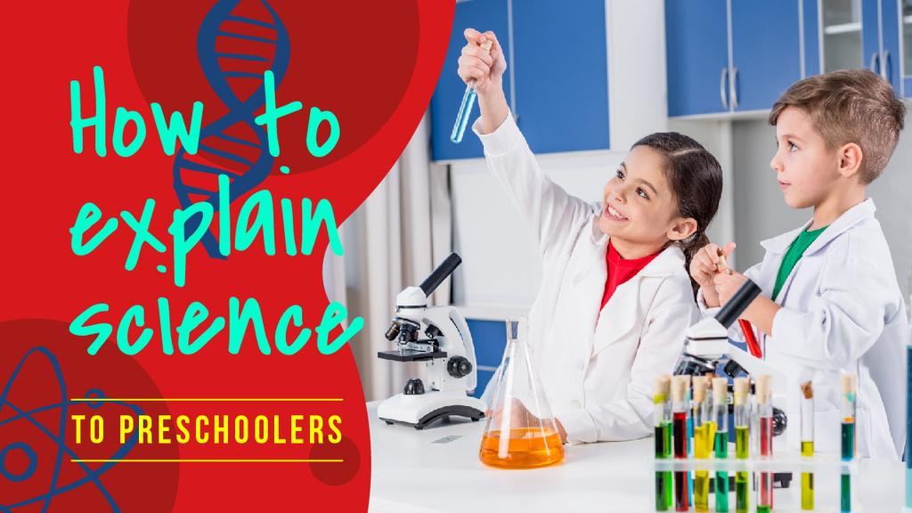 Science Education Kids in Laboratory — Crear un diseño