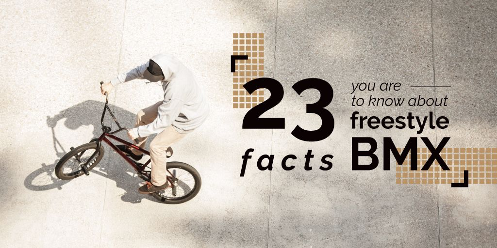 facts about freestyle bmx poster — Create a Design