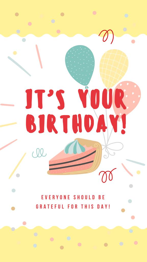 Piece of cake with balloons - Vytvořte návrh