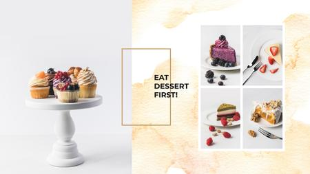 Delicious desserts assortment Youtube Modelo de Design