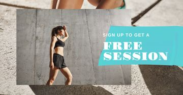 Fitness session offer with Woman at Workout