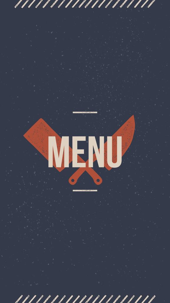 Meat and Fish restaurant menu icons — Modelo de projeto