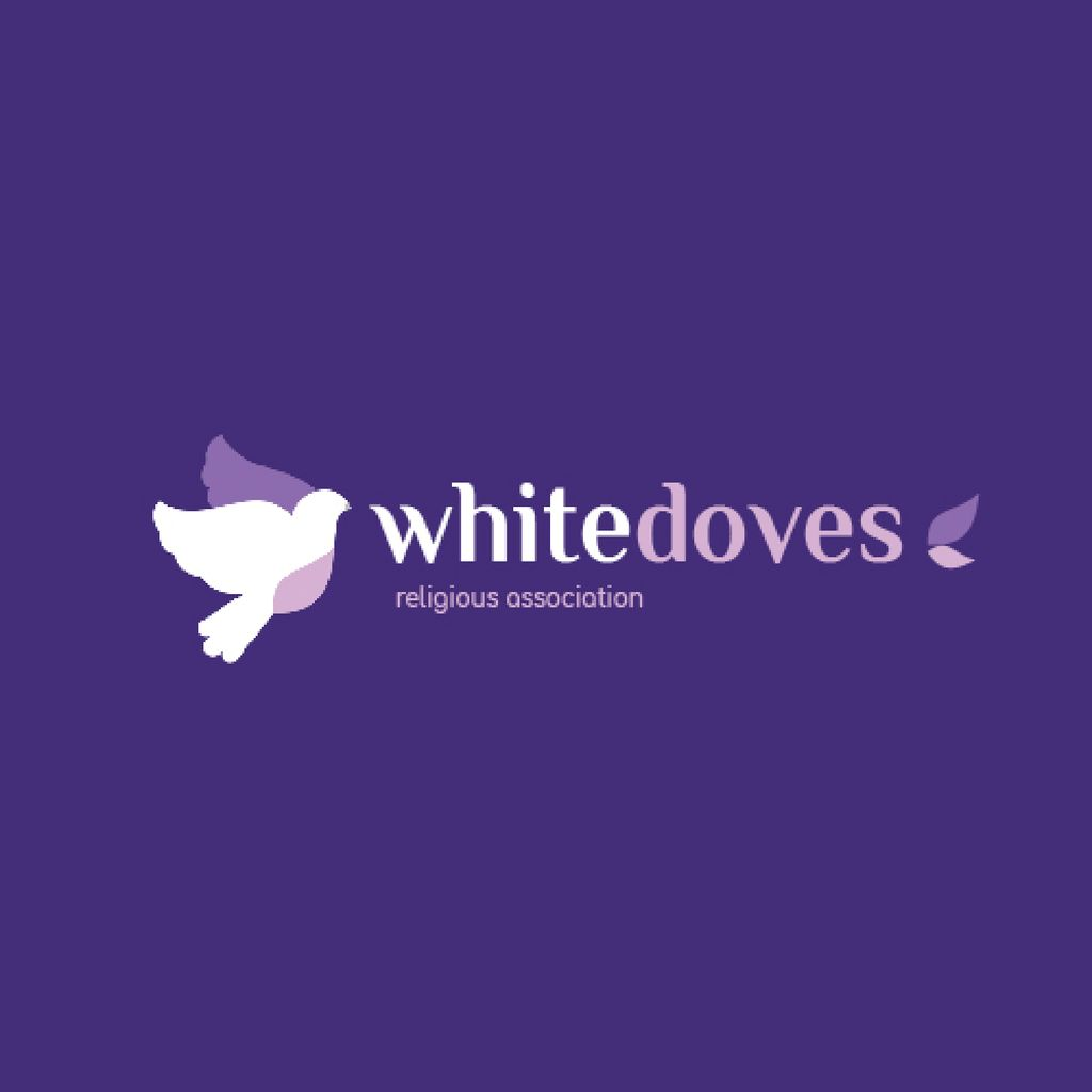 Religious Association Flying Doves Birds — Crear un diseño