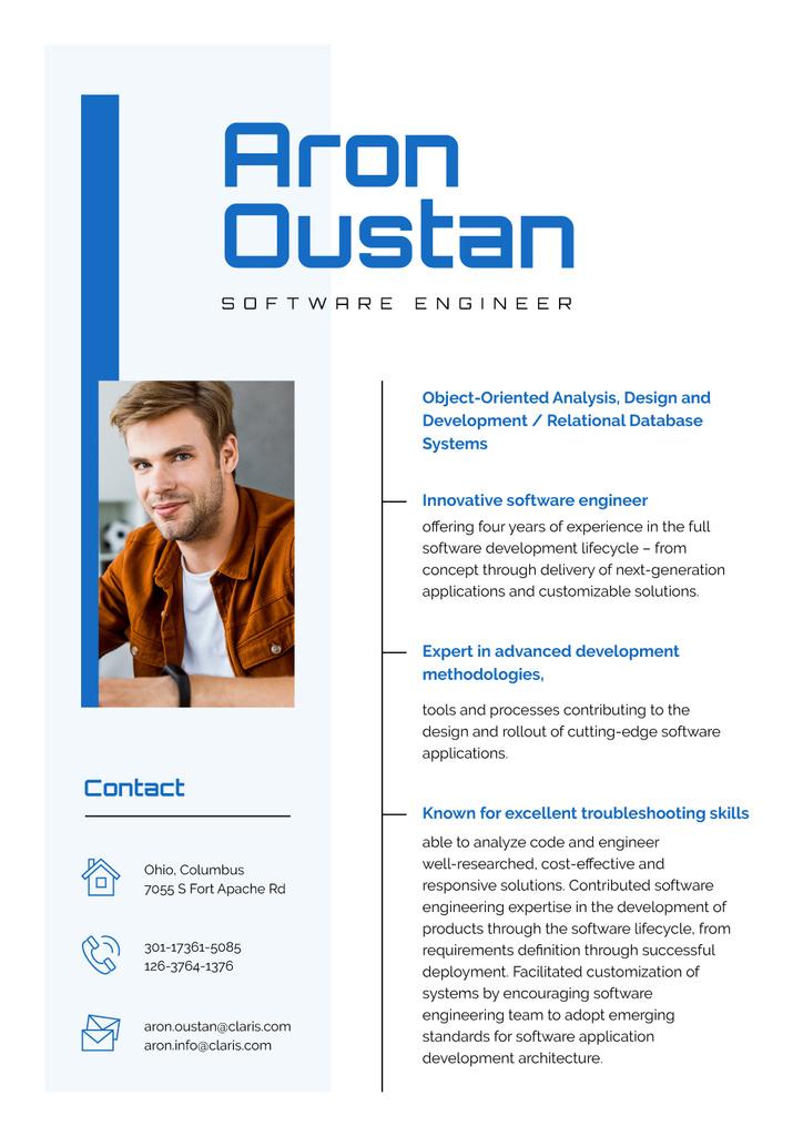 Software Engineer Professional Skills and Experience  — Maak een ontwerp